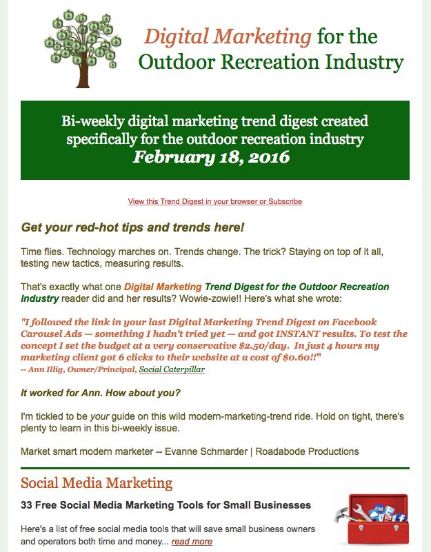 Digital Marketing Trend Digest for Outdoor Recreation